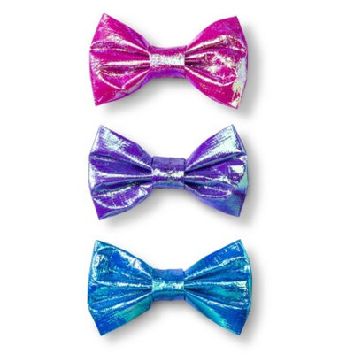 Fantasia Accessories Girls' 3-Pack Foil Bow Clips