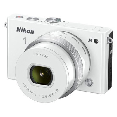 Nikon J4 18.4 MP Digital Camera with NIKKOR 10-30mm Lens - White