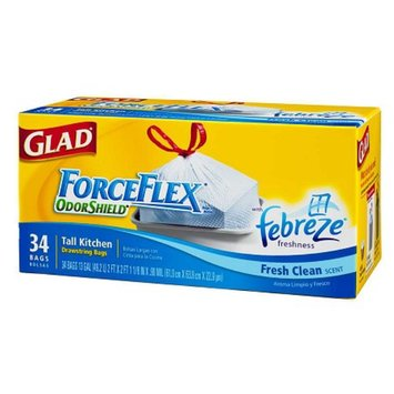 Glad Force Flex Forceflex Tall Kitchen Trash-Garbage Bags Drawstring