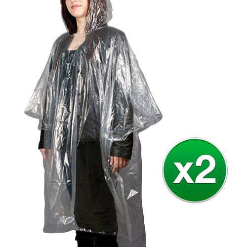 Travelon Emergency Rain Poncho (2-Pack) Emergency Rain Poncho