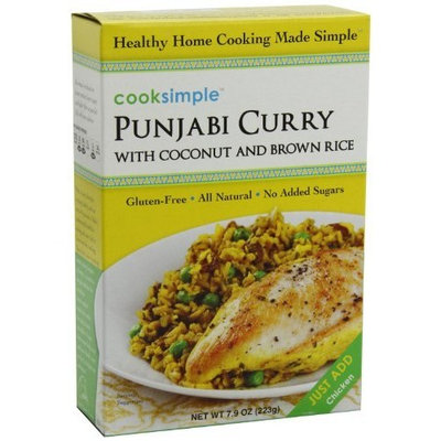 Cooksimple Punjabi Curry with Coconut and Brown Rice, 7.9-Ounce