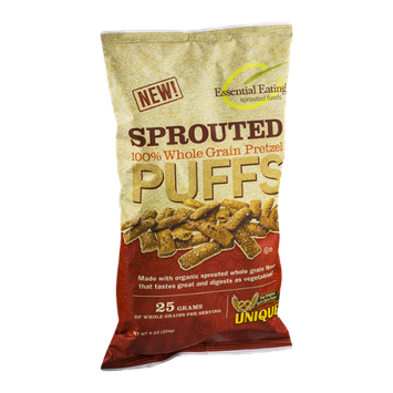 Unique Sprouted Puffs 100% Whole Grain Pretzel