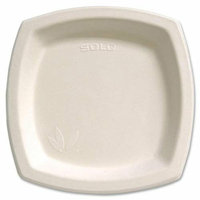 SOLO CUP COMPANY 8PSC2050 Bare Sugar Cane Plate 8.25in 125/BG Off-White