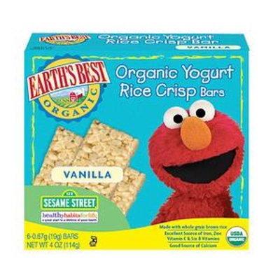 Earth's Best Sesame Street Organic Yogurt Rice Crisp Bars Vanilla