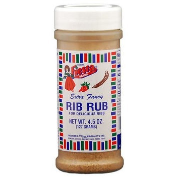 Bolner's Fiesta Brand Fiesta Brand Rib Rub Seasoning, 4.5 oz jar