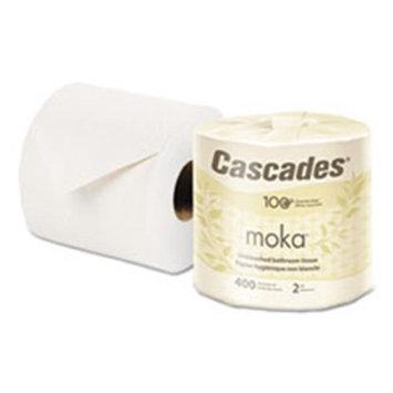 Cascades(R) moka(TM) 100% Recycled Bathroom Tissue, 400 Sheets Per Roll, Case Of 80 Rolls