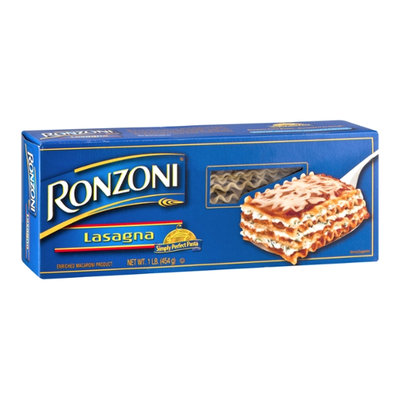 Ronzoni Enriched Macaroni Product Lasagna