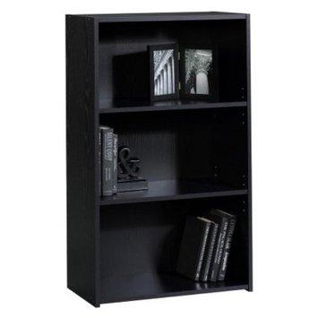 Sauder Book case: Room Essentials 3 Shelf Bookcase - Black