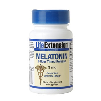 Life Extension Melatonin 3mg, Timed Release, Tablets, 60 ea