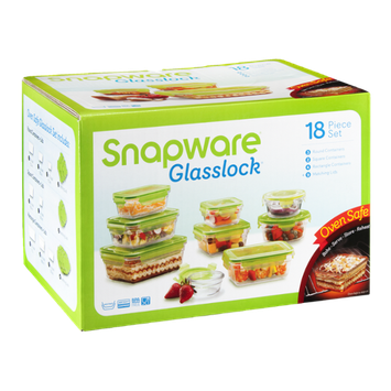 Snapware Glasslock Containers - 18 CT
