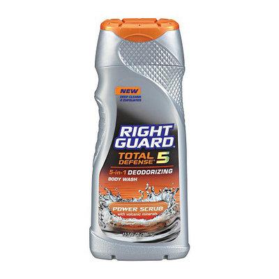 Right Guard Total Defense 5 5-in-1 Deodorizing Body Wash Power Scrub