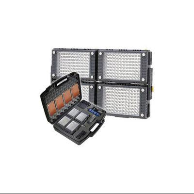 Vidpro 4-Piece Z-96K Pro Photo/Video LED Light Kit with Battery, Charger, Diffusers & Case