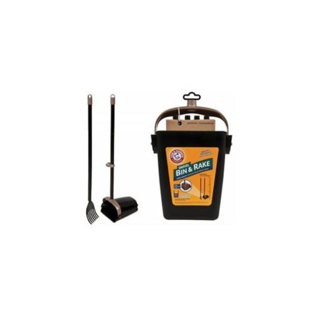 Arm & Hammer Dog Waste Shovel Rake & Bin Poop Scoop Set