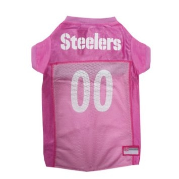 Doggie Nation.com Pittsburgh Steelers Pink Dog Jersey Small