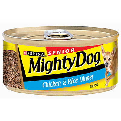 Mighty Dog Senior Chicken & Rice Dinner Dog Food, 5.5 oz