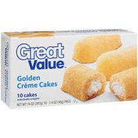 Great Value Golden Creme Cakes, 10ct
