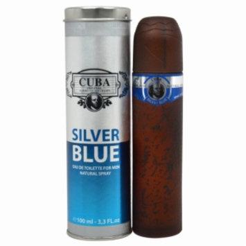 Cuba Silver Blue Eau de Toilette Spray, 3.3 fl oz