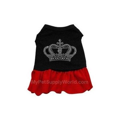 Mirage Pet Products 5713 XXXLBKRD Rhinestone Crown Dress Black with Red XXXL 20
