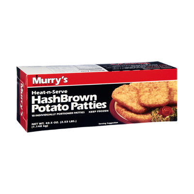 Murry's Heat-n-Serve HashBrown Potato Patties - 18 CT