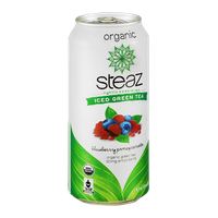 Steaz Iced Green Tea Organic Blueberry Pomegranate