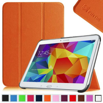 Fintie Smart Shell Case Ultra Slim Lightweight Stand Cover for Samsung Galaxy Tab 4 10.1 Tablet, Orange