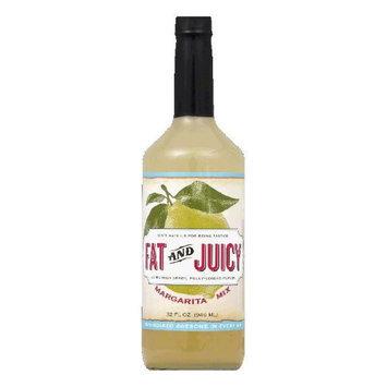 Fat & Juicy Fat and Juicy Margarita Mix, 32 fl oz, (Pack of 12)