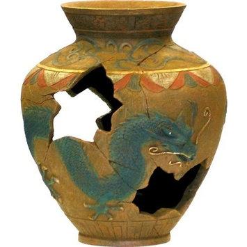 Blue Ribbon Exotic Environments Oriental Vase Aquarium Ornament