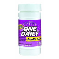 21st Century One Daily Adults 50+ Tablets, 100 Count (Pack of 2)