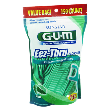 GUM On-The-Go Eez-Thru Mint Flossers - 150 CT