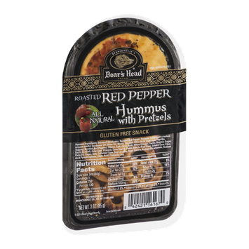 Boar's Head Roasted Red Pepper Hummus with Pretzels