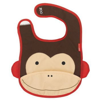Skip Hop Zoo Tuck-Away Bib Monkey by