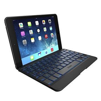 ZAGG Cover for iPad Mini & iPad Mini Retina , Hinged with Blacklit Keyboard - Black [Black, Standard Packaging]