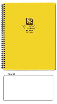 RITE IN THE RAIN 333-MX Spiral Notebook, Blank,8-1/2 x 11 in