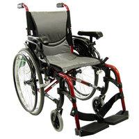 Karman 18 inch Aluminum Wheelchair with Height Adjustable Flip-Back Armrests