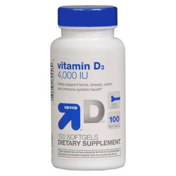 up & up up&up Vitamin D 4000 iu Softgels - 100 Count