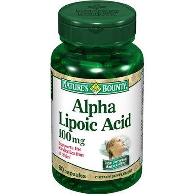 Nature's Bounty Alpha Lipoic Acid 100 mg 60 capsules