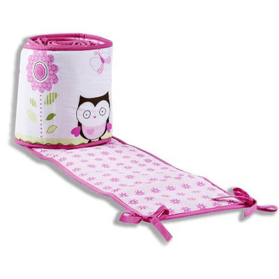 Dream On Me Baby Owl Portable Crib Bumper