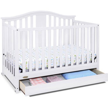 Generic Graco Solano 4-in-1 Convertible Crib with Drawer, White