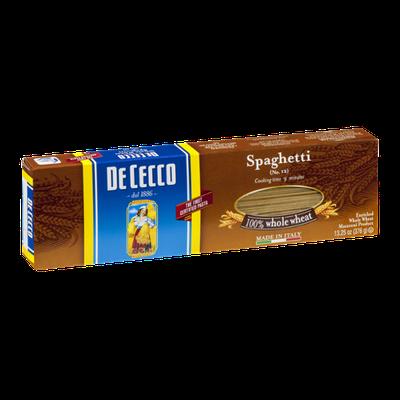 De Cecco Spaghetti 100% Whole Wheat