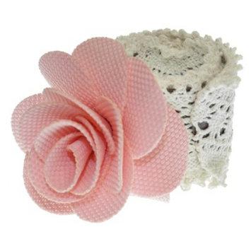 RIVIERA, A STYLEMARK CO Women's Riviera Slap Wrap Bun Holder with Flowers - Pink