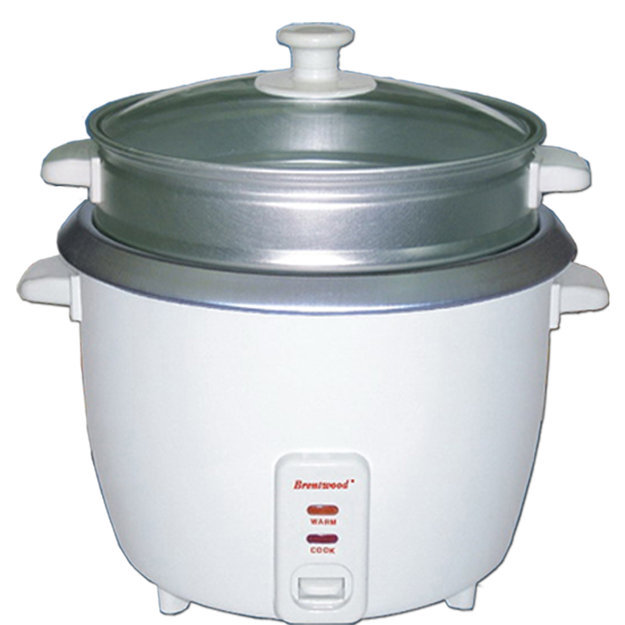 Brentwood Appliances TS700S 4 Cup Rice Cooker With Steamer White