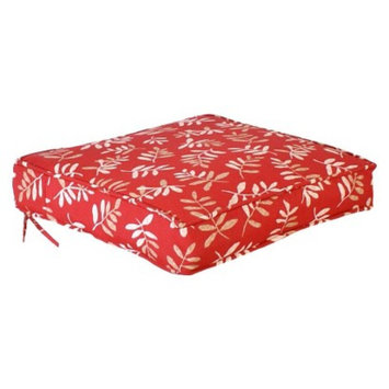 Jordan Outdoor Conversation/Deep Seating Cushion - Red/Tan Floral