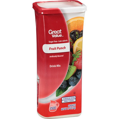 Great Value: Fruit Punch Drink Mix