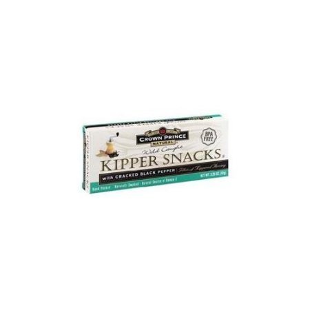 Crown Prince Natural Kipper Snacks with Cracked Black Pepper - 3.25 oz