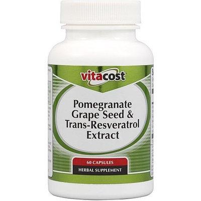 Vitacost Brand Vitacost Pomegranate, Grape Seed & Trans-Resveratrol Extract -- 60 Capsules