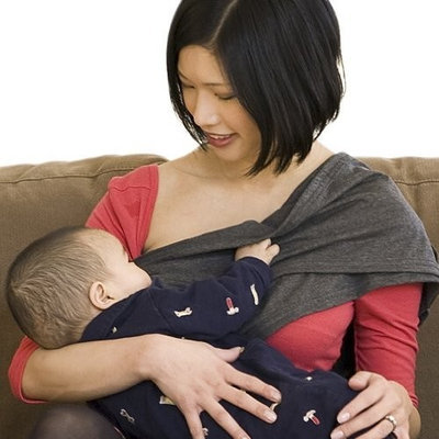 Baby Bond Flex Nursing Sash with Removable Burpcloth, Chocolate, Large/X-Large