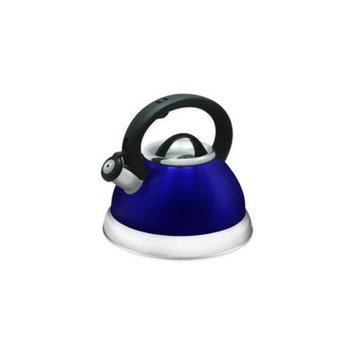 Prime Pacific PPD3001B- 3 Quart Blue Stainless Steel Whistling Tea kettle