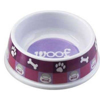 Ethical Dog Ethical Pet Products (Spot) DSO6852 Designer Woof Plastic No-Tip Dog Dish, 8-Inch, Pink