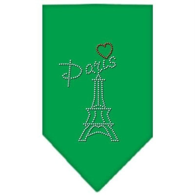 Mirage Pet Products 6753 SMEG Paris Rhinestone Bandana Emerald Green Small