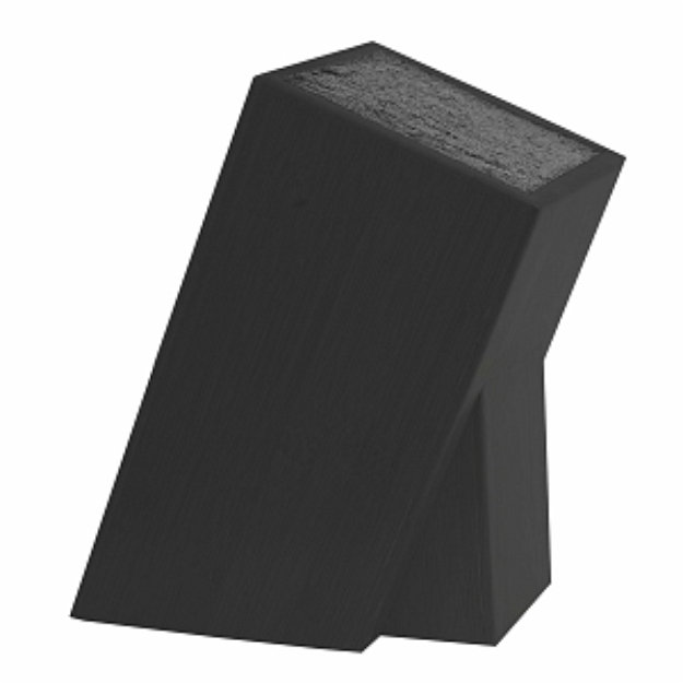 Kapoosh 650BK Universal Knives & Utensils Storage Block, Black, 1 ea